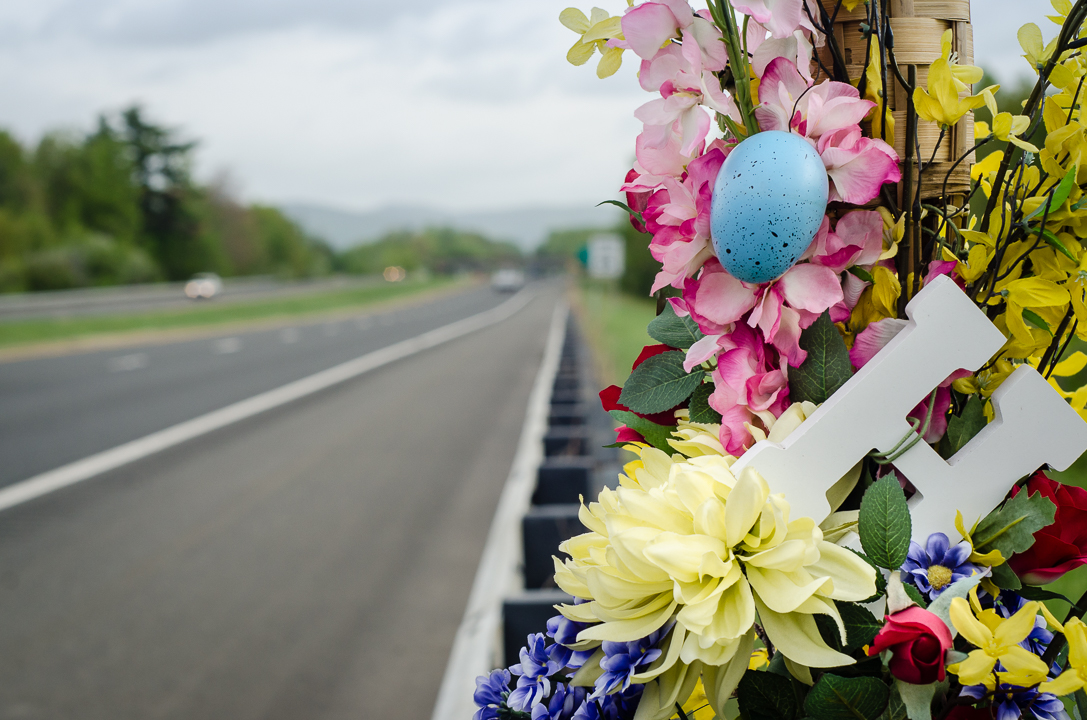 """""""H"""" & egg, May 2015, Route 116, Hadley, MA"""