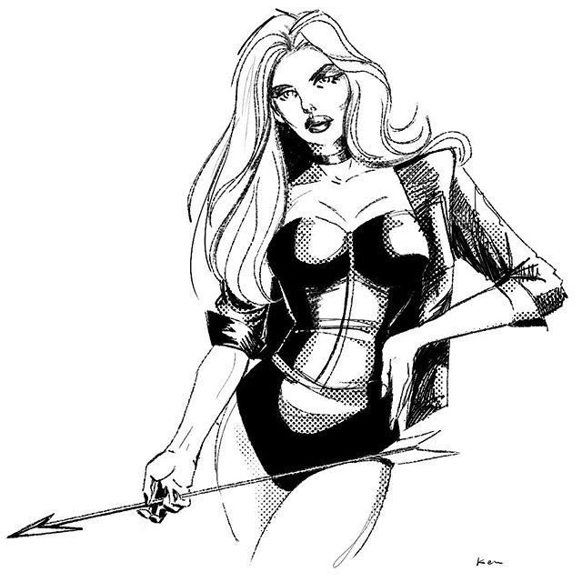It's been a while, so here's a Blck Canary.  #blackcanary #dccomics #comics #batman #greenarrow #pinup #badassbabes #superhero #drawing #illustration #digitalart #process #digitalillustration #cintiq #wacom #photoshop  @photoshop @adobe @wacom #comicboolartist @dccomics