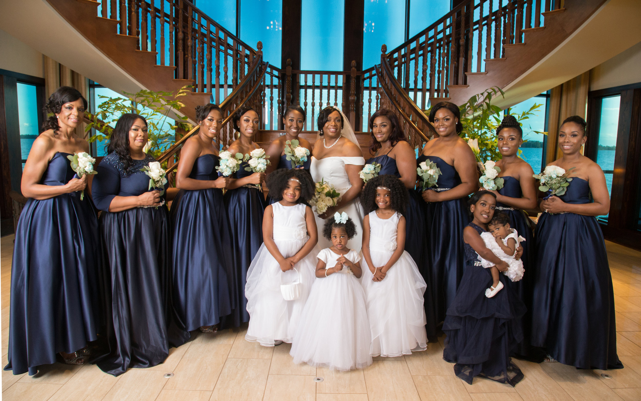 Lovely Bridal party at Tavares Pavilion on the Lake - Chamber Photography Moments by Antoine Hart