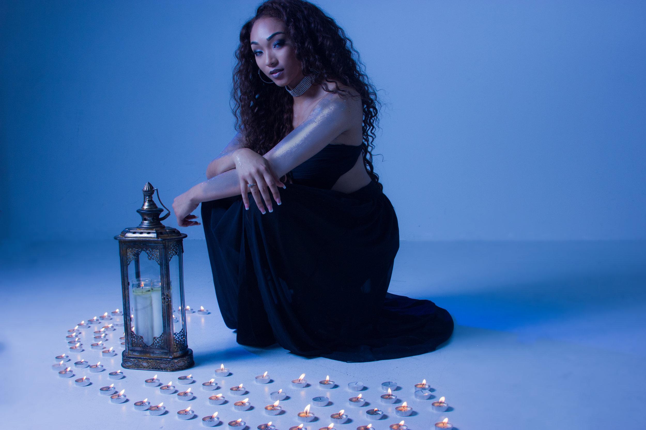 candle light photo shoot
