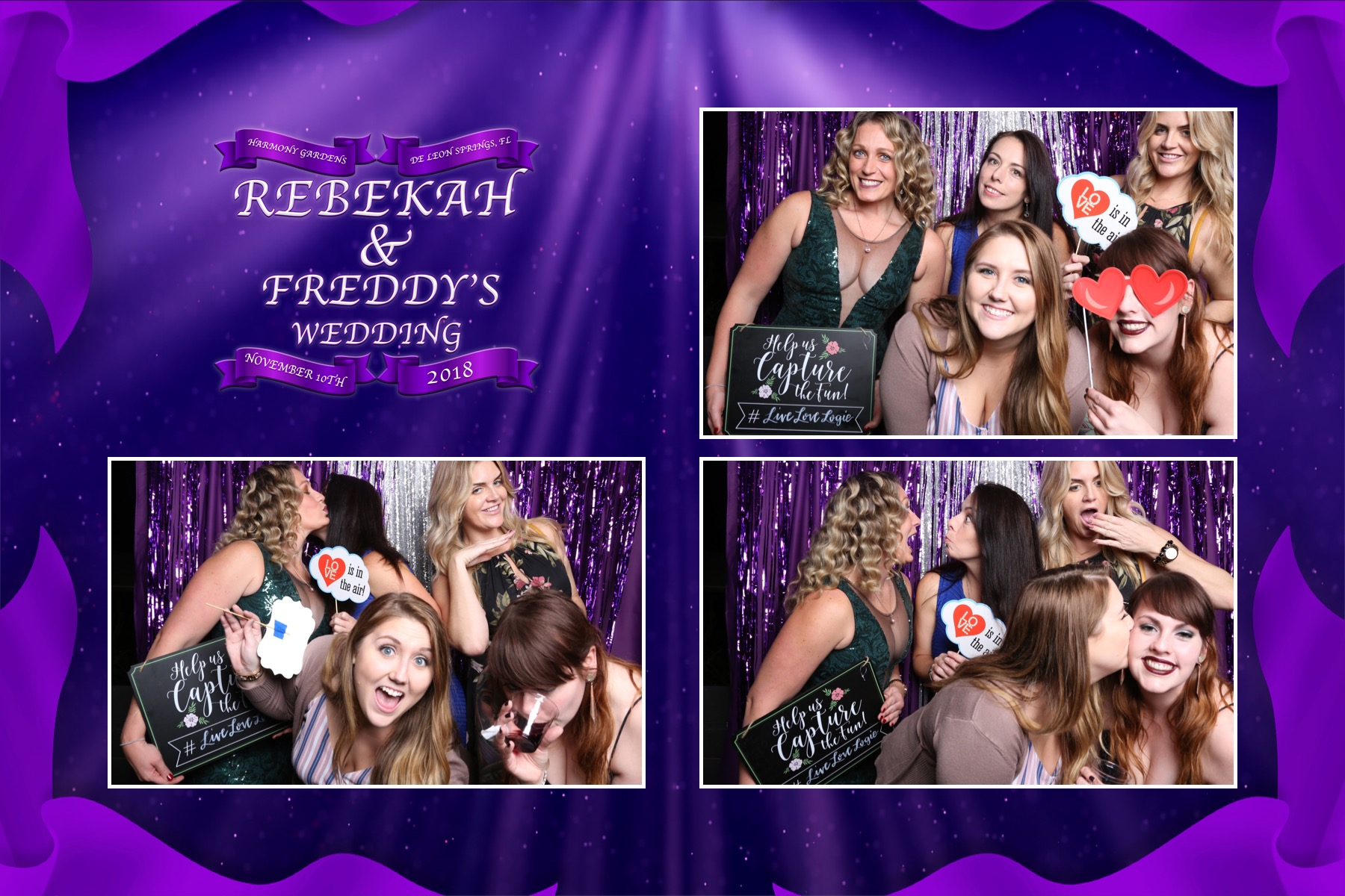 Photo Booth fun At Rebekah and Freddy's Wedding : Chamber Hart Photography Booth Chamber Harmony Gardens