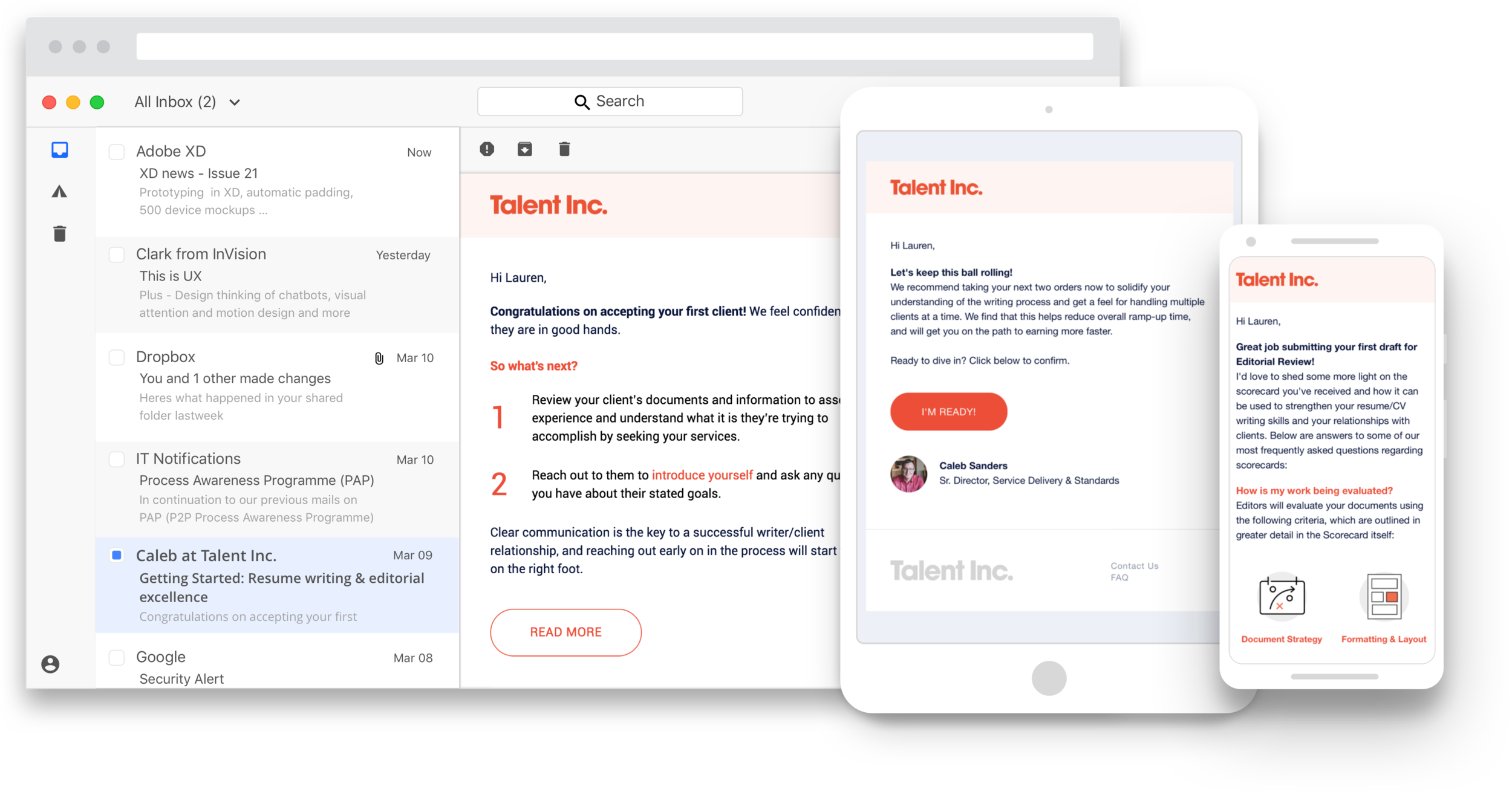 Humanizing the new hire experience with responsive, educational, event-driven emails.