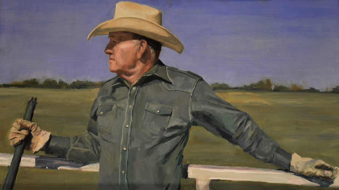 The Rancher - Oil on Board
