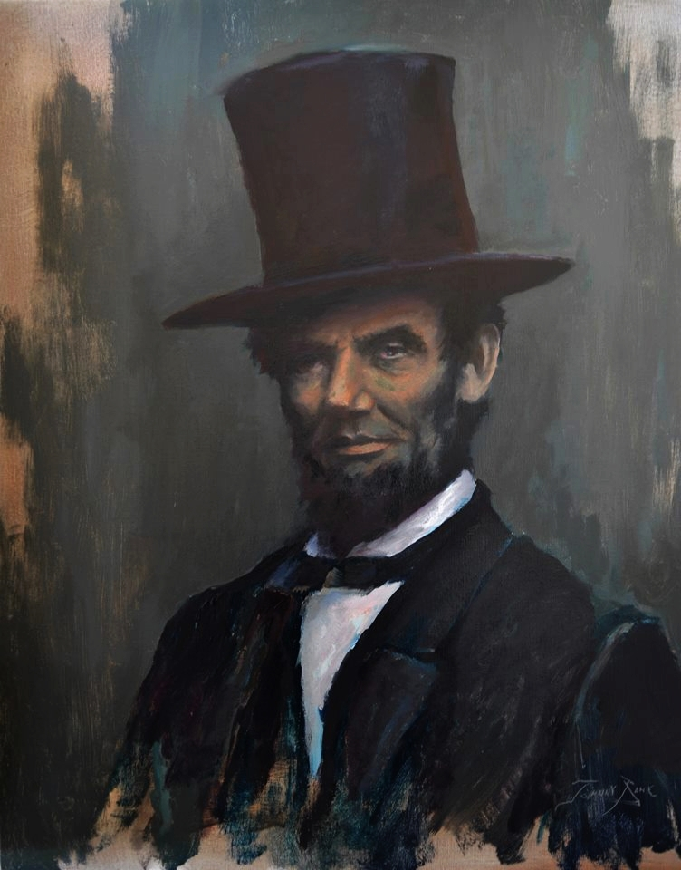 """Lincoln - 24"""" x 20"""" - Oil on Canvas"""