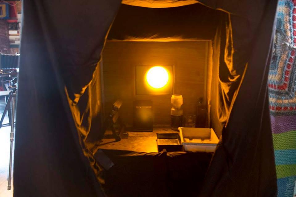 A view inside the Barbatype Darkbox