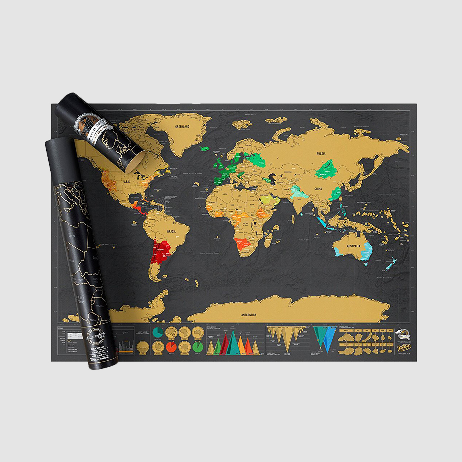 Scratch-Off Map World Poster | $23 | Amazon