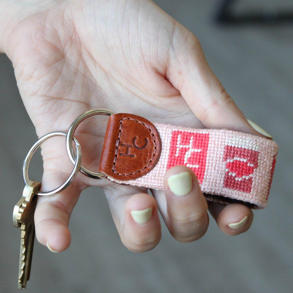 needlepoint keychain