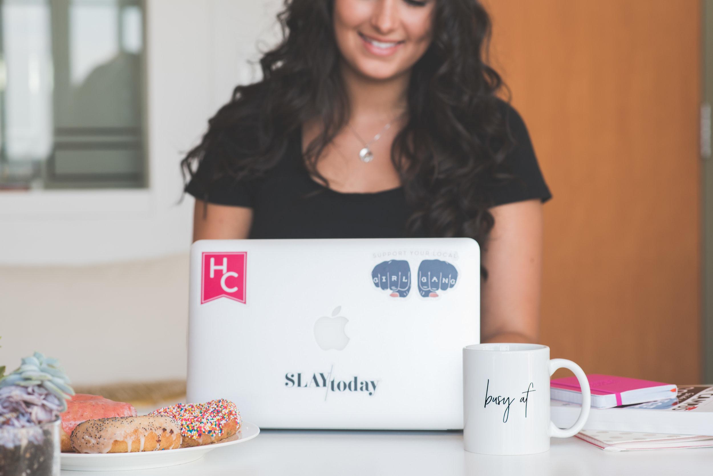 feminist stickers + busy AF mug
