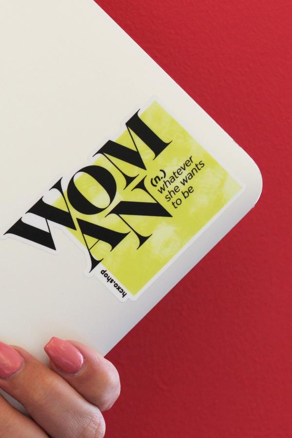 woman (n.) sticker