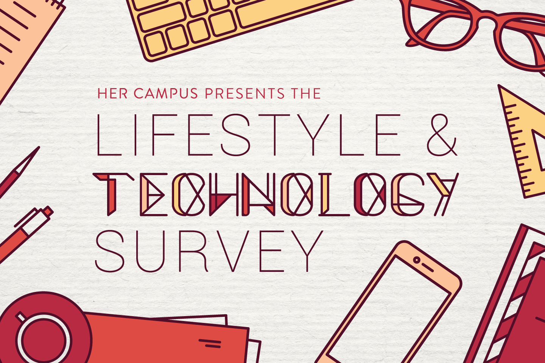 lifestyle & technology survey promo graphic