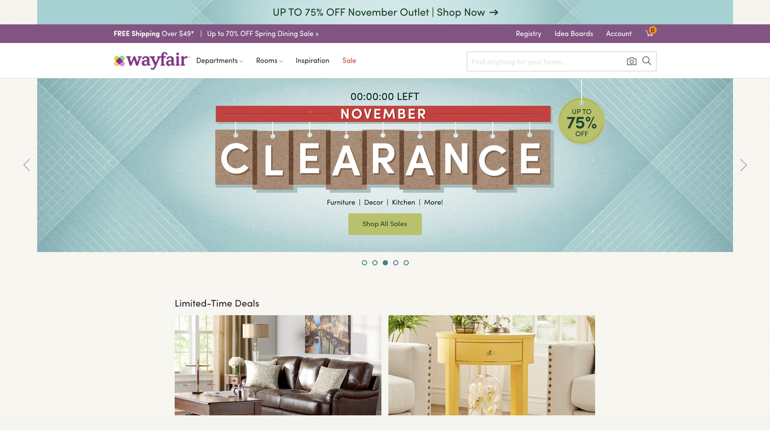 November Clearance Major Promotion