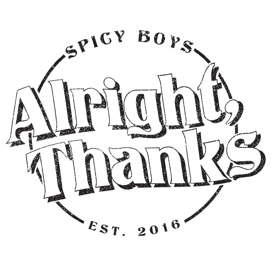 Sticker Design for Alright, Thanks band