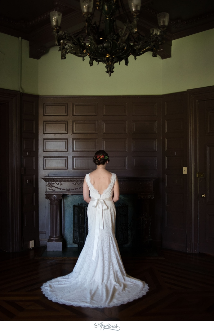 Cylburn Arboretum wedding photojournalism bride dress