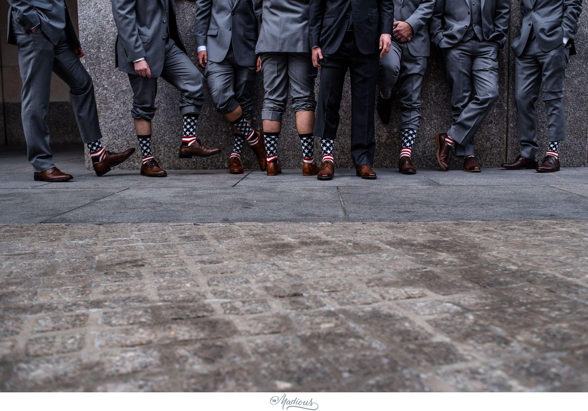 Creative groomsmen photo socks