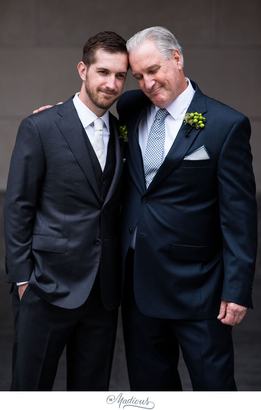 Father and son moment wedding