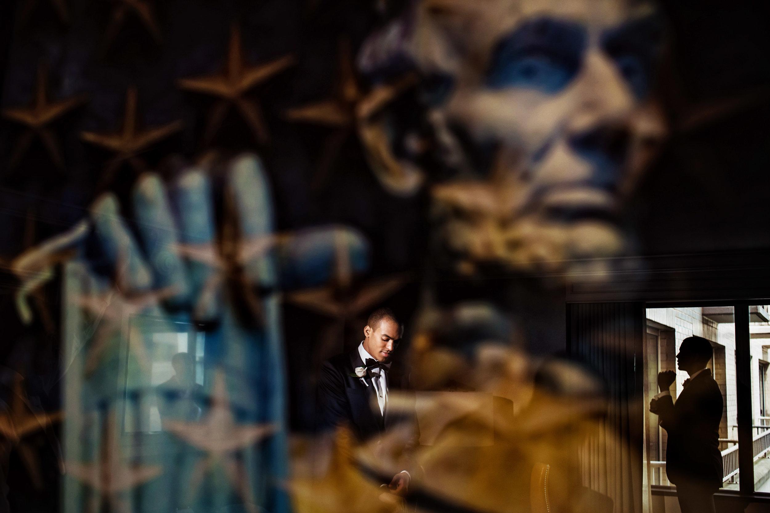 Fairmont DC Wedding   Groom Portrait