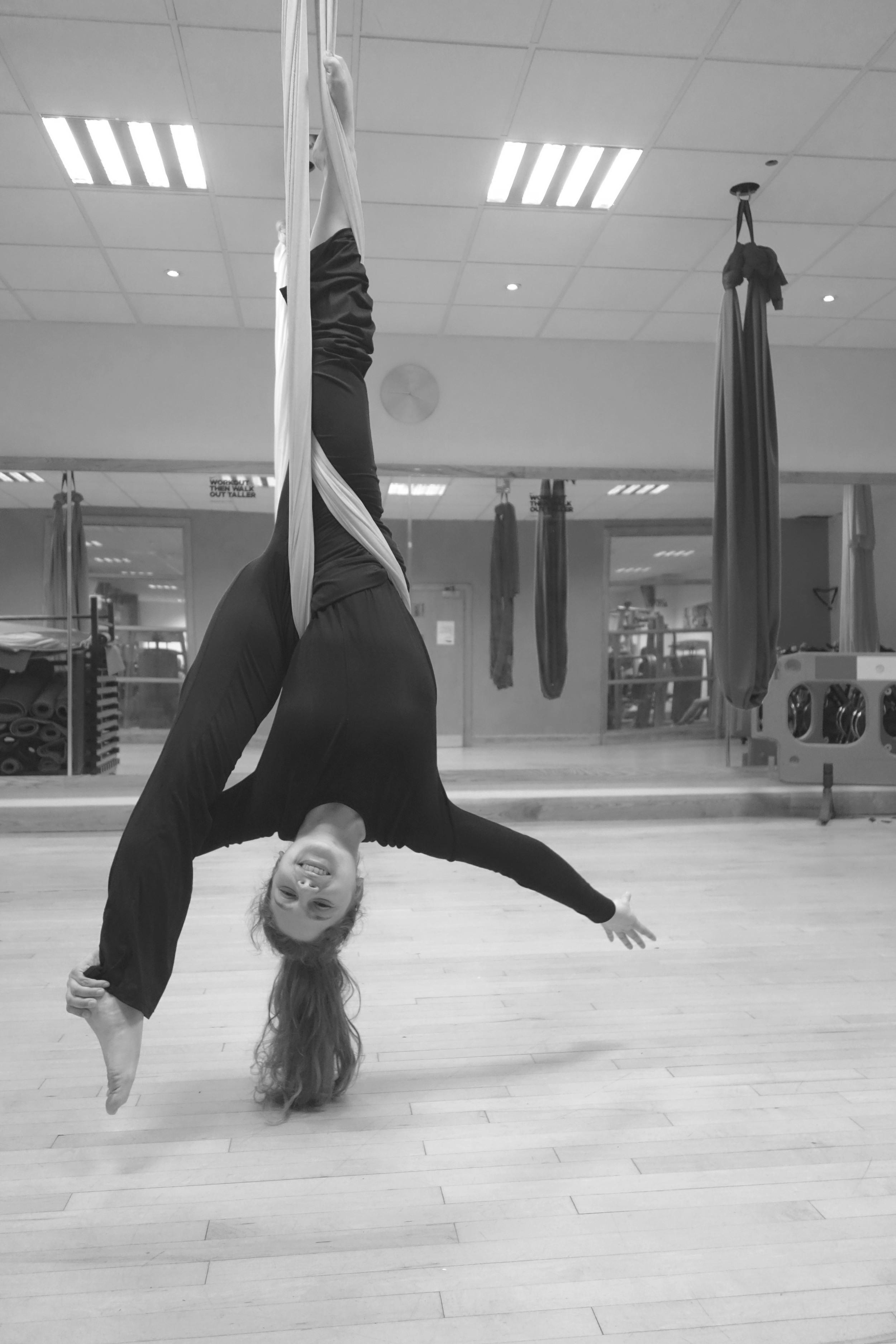 Anti-gravity yoga at South East London