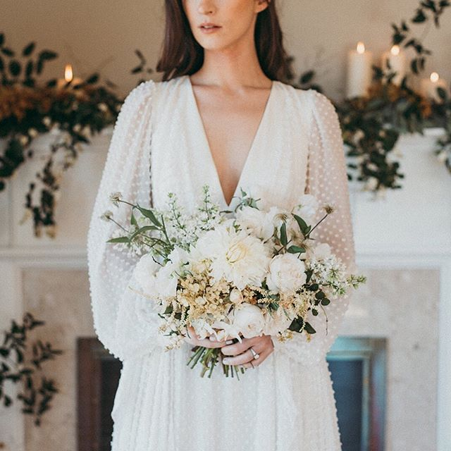 Since this editorial shoot for  @rockymtnbride I have done many white bridal bouquets and it's been a joy and a challenge to create each to be as special as the women holding them. I'll post details about each to give you all a sense of the thought and love I add to each creation. I want those flowers to be a once in a life time experience for each of these brides. I hope they will love their  bouquets  forever.  And special thanks for the photographers who capture them in images that will take our brides breath  away for years to come. ❤️