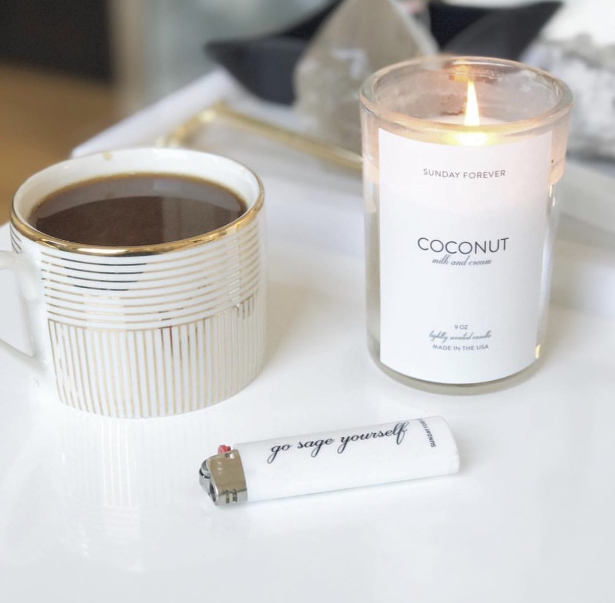 COconuts Candle    +    Go Sage Yourself Lighter