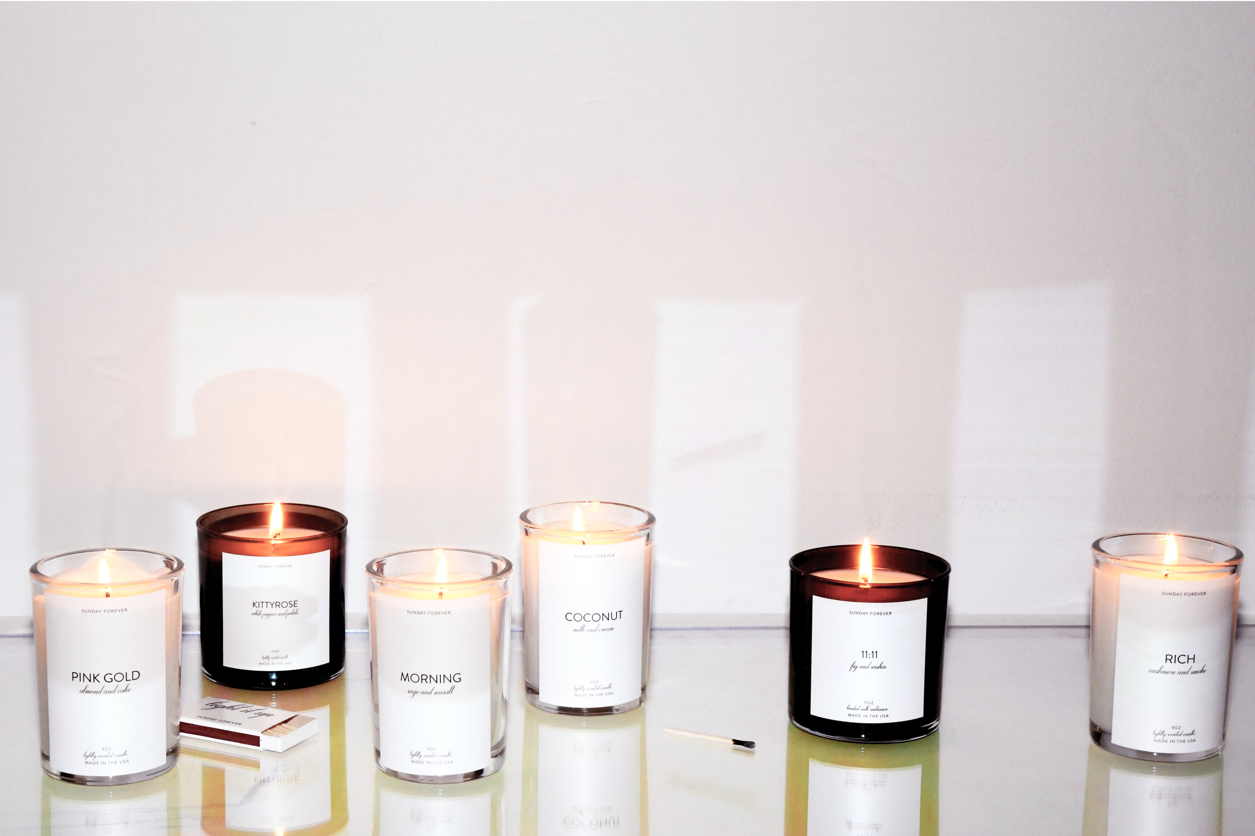 OUR CANDLES - WE USE ONLY 100% COTTON WICKS AND A HIGH QUALITY COCONUT AND SOY BLEND WAX FOR A CLEAN, SLOW BURN.WE ALSO WORK WITH A MISSION BASED COMPANY OUT OF MASSACHUSETTS TO POUR AND HAND PACKAGE OUR CANDLES. WE CHOSE THIS PARTICULAR MANUFACTURER NOT ONLY BECAUSE OF THEIR HIGH QUALITY HAND-POURED AND HAND LABELED PRODUCTION METHODS BUT ALSO BECAUSE THEY SUPPORT FEMALE REFUGEES AND ARTISANS THROUGH CANDLE MAKING, ALLOWING THEM TO EARN A FAIR LVING WAGE.