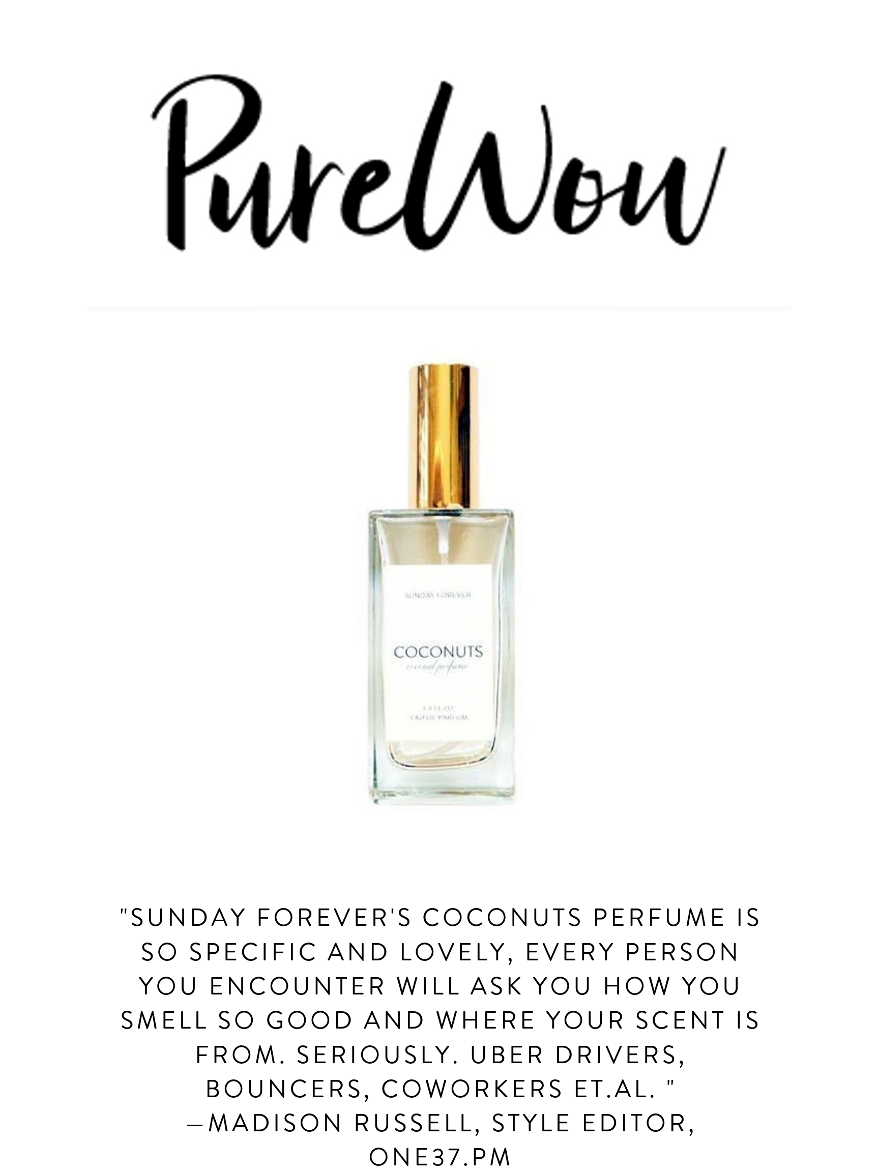 Sunday Forever Pure Wow Coconuts Perfume Press