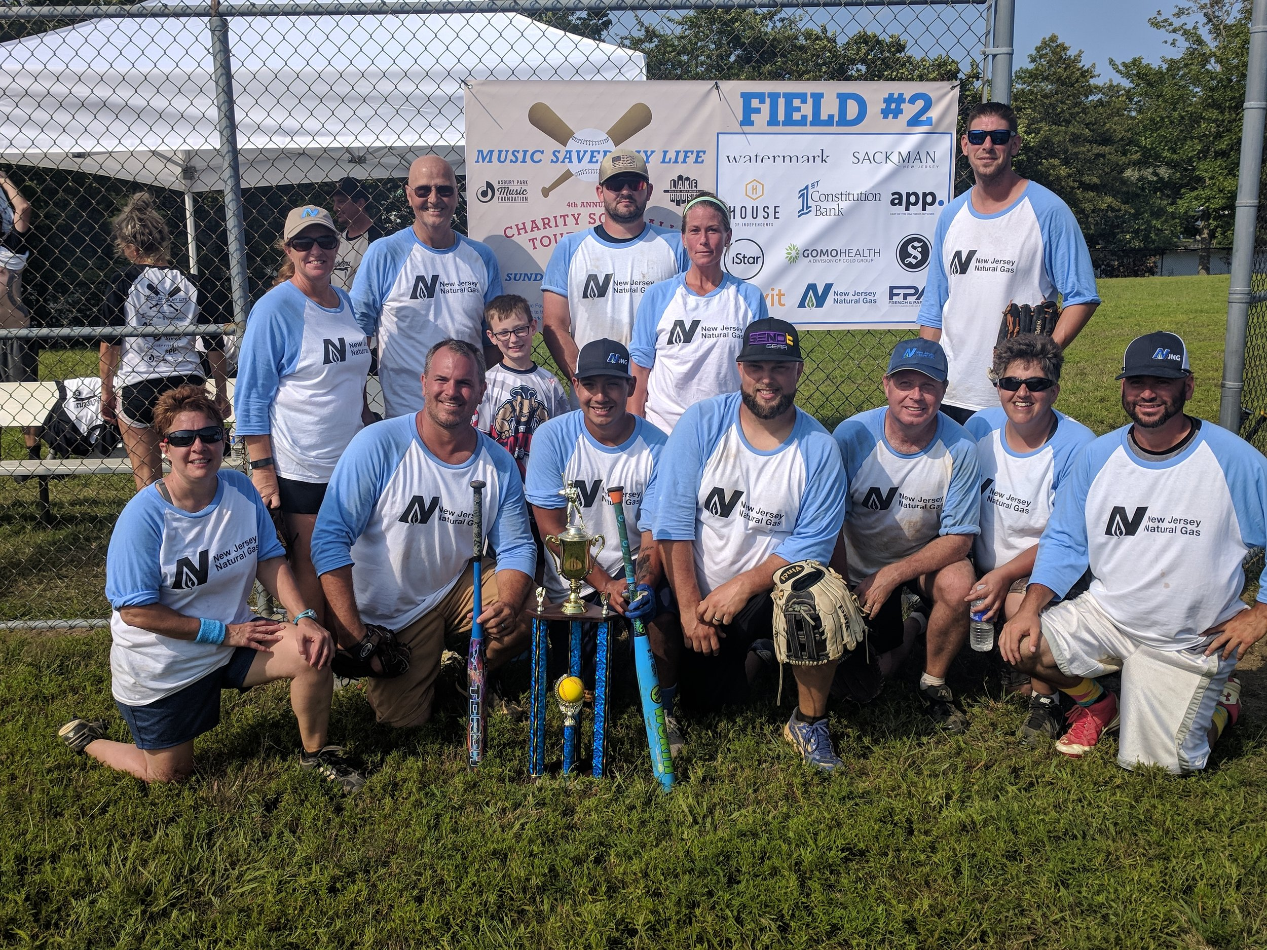 Congratulations to NJ Natural Gas on retaining the trophy for a second year at the 4th Annual Music Saved My Life Charity Softball Tournament!