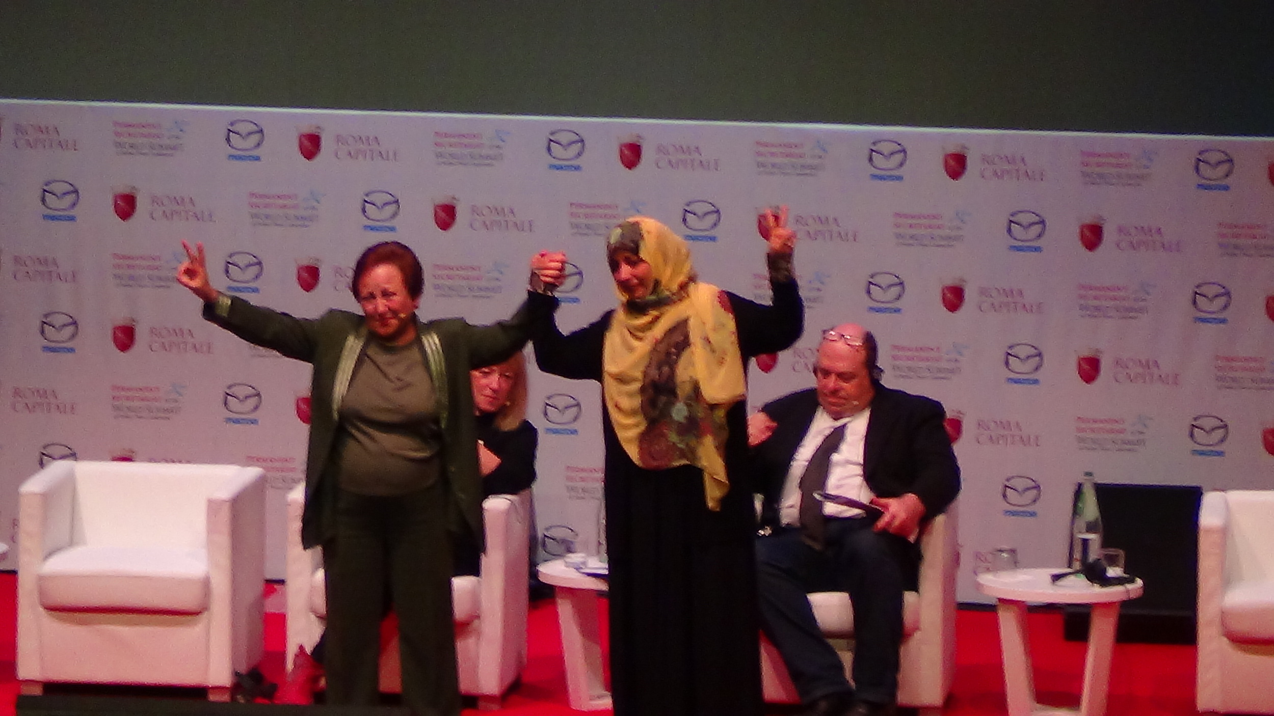 DR. SHRIN EBADI FROM IRAN & YEMENI JOURNALIST-TAWAKKUL KARMAN BOTH 2011 NOBEL LAUREATES OF PEACE FOR WOMEN & CHILDREN'S RIGHTS.JPG