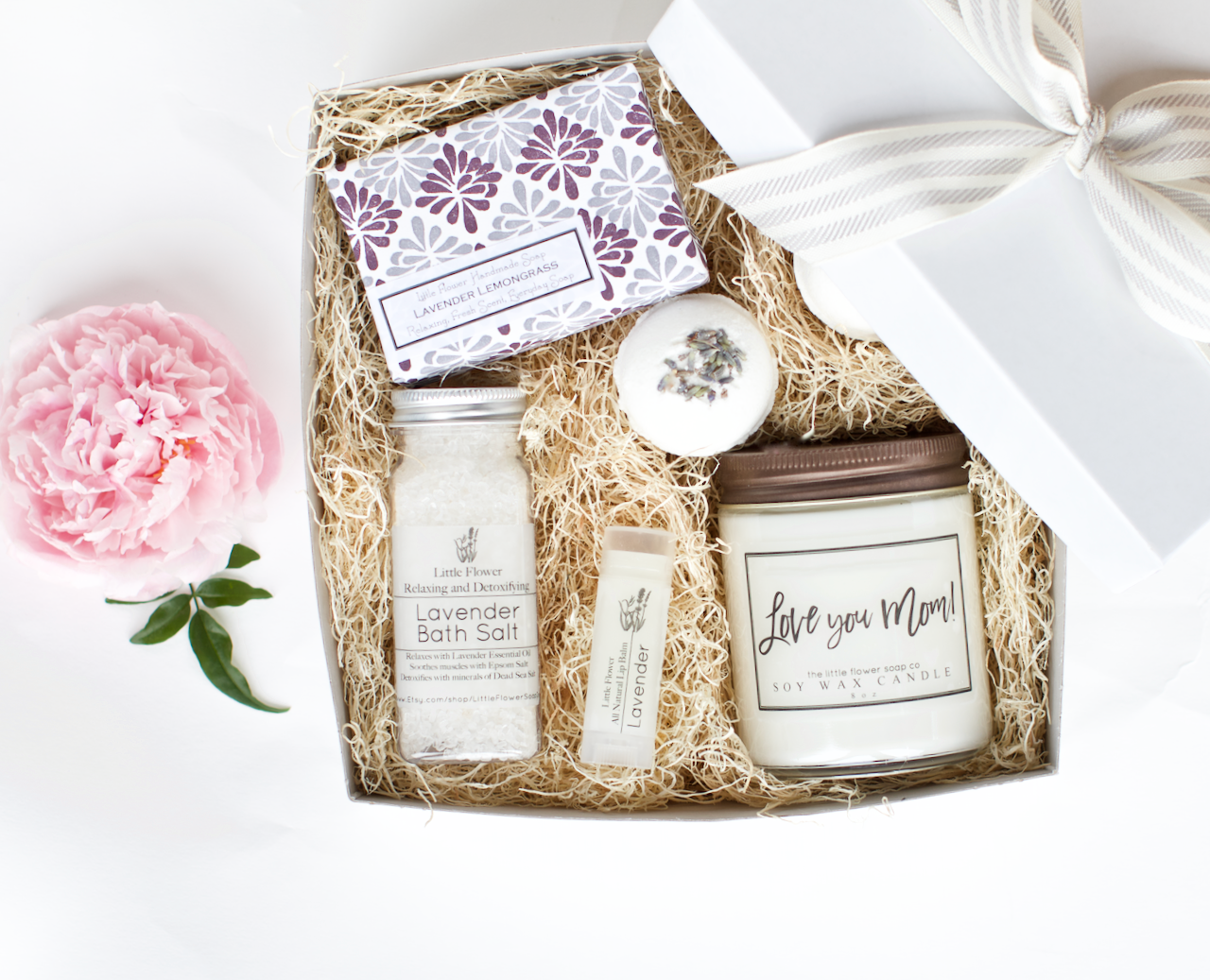 "Luxury Lavender Gift Box $38    This is our Top Pick for Mom in 2019 A best seller in 2018 this Luxury Lavender Relaxation Gift Box received some seriously amazing reviews:  ""My mother in law loved it! She lives far from us so this was a blessing to send her already wrapped and ready to gift."" ~Brandi K.  ""My mother loved it! Said the smell and packaging was beautiful. It was delivered in time for Mother's Day, even though it was shipped to Puerto Rico! Thanks for making me look good!"