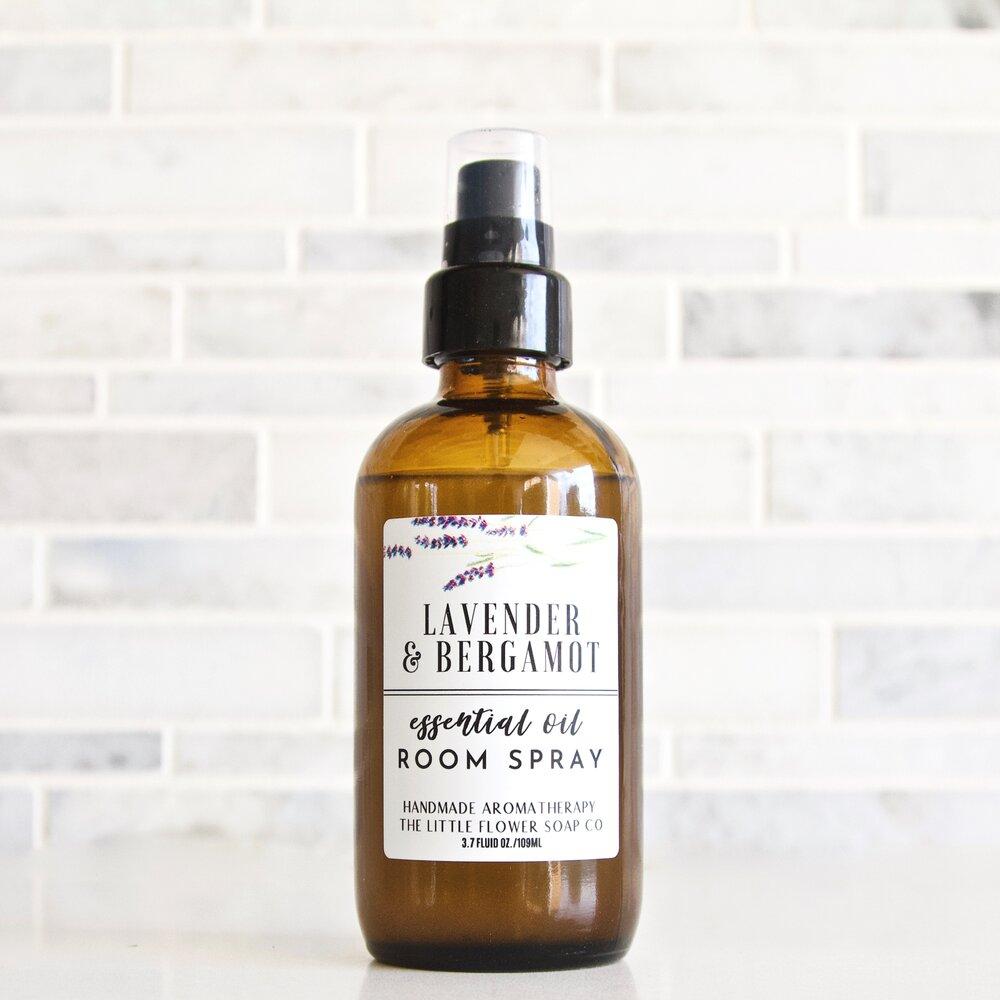 Lavender Bergamot Essential Oil Room Spray