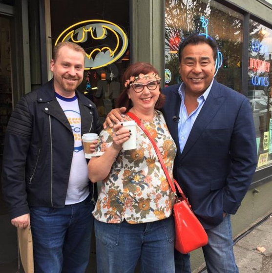 @queenofquirky Here is my @WWYDABC photo!!!! @JohnQABC. Thank you for your kindness and I enjoyed hearing about your radio career!