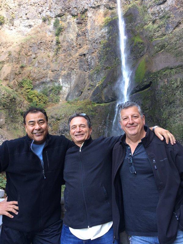 @JohnQABC With part of my WWYD crew in Multnomah Falls, Oregon. Stunning!