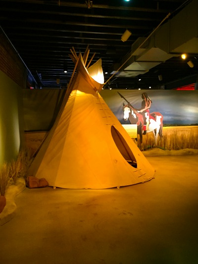 Step inside a replica Sioux tipi and explore.