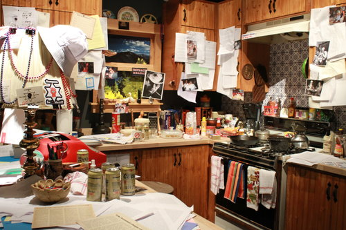 Replica of Hunter's kitchen. Installation by Frazier Museum.