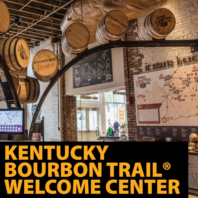Bourbon Barrels in the Kentucky Bourbon Trail welcome Center