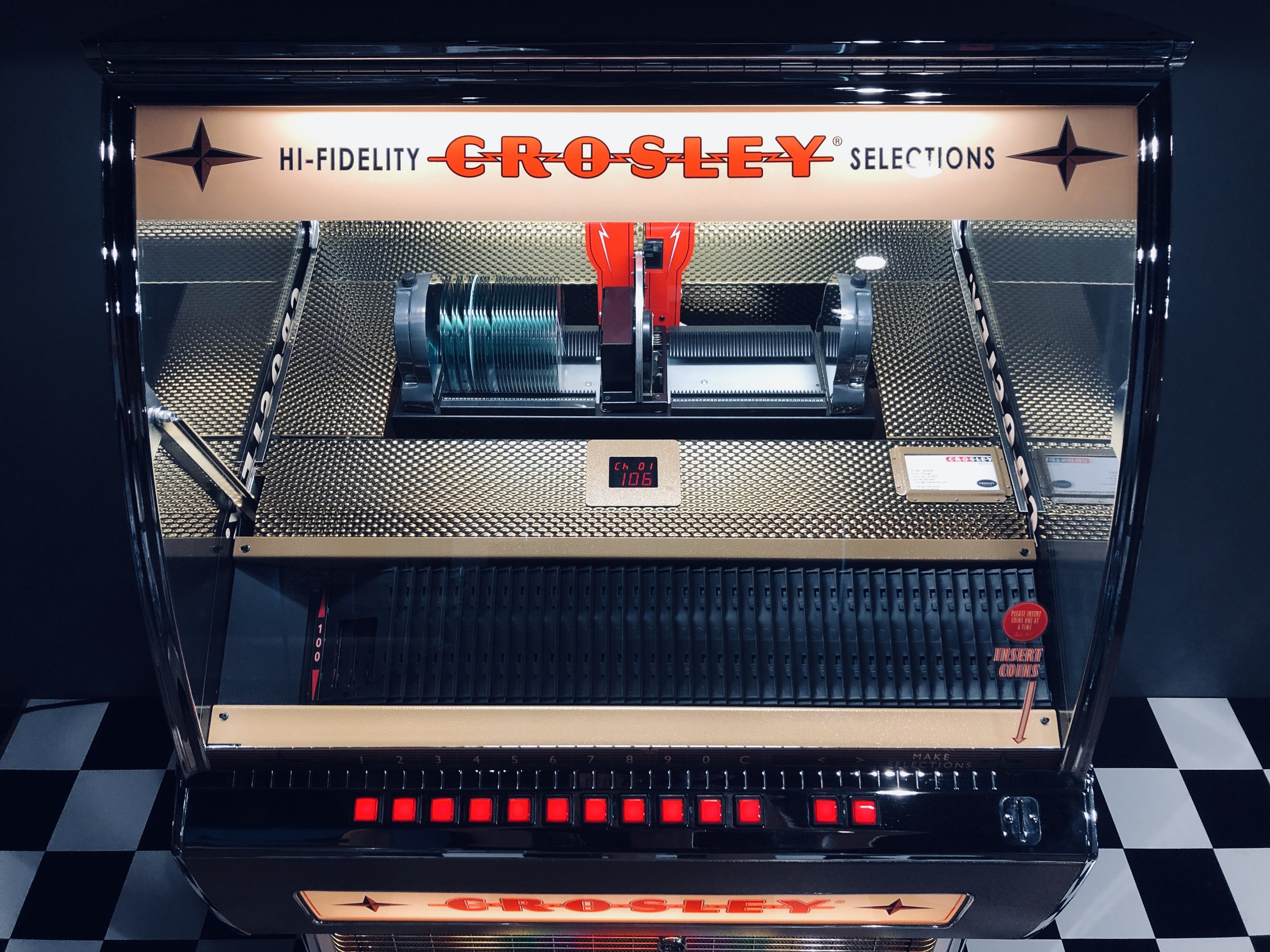 Crosley jukebox.
