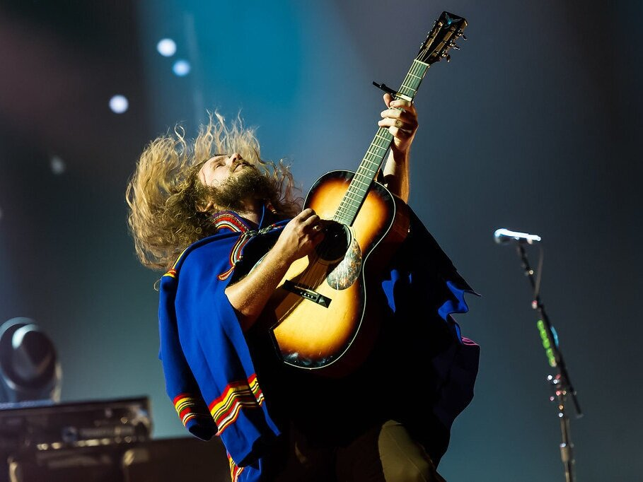 Jim James's cape.