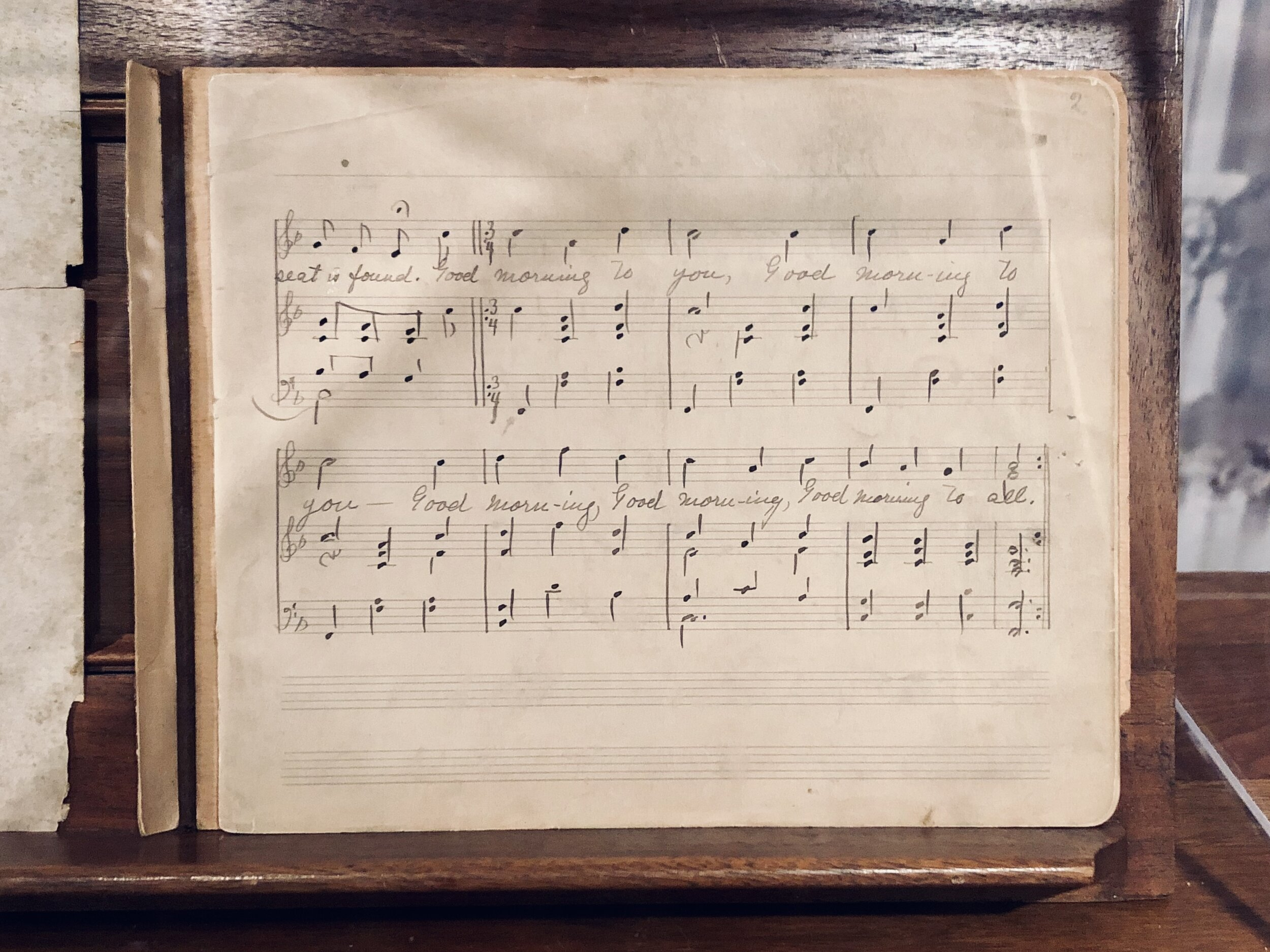 "Manuscript of ""Good Morning to All."""