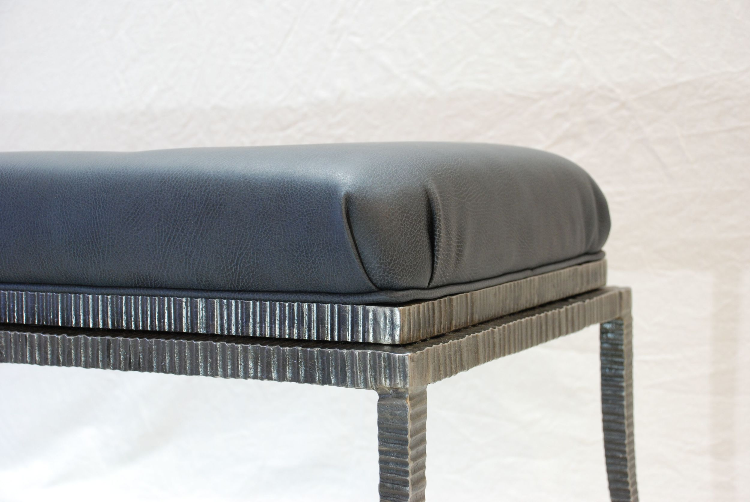 Steel Art Deco Bench
