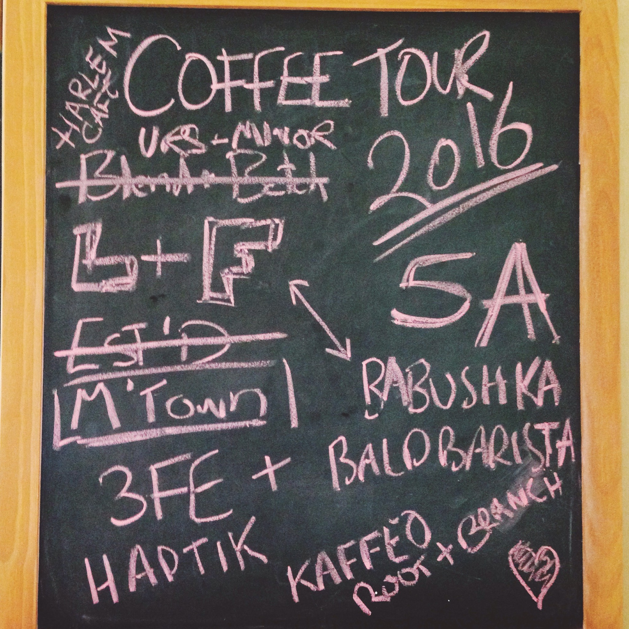 Coffee tour of summer 2016