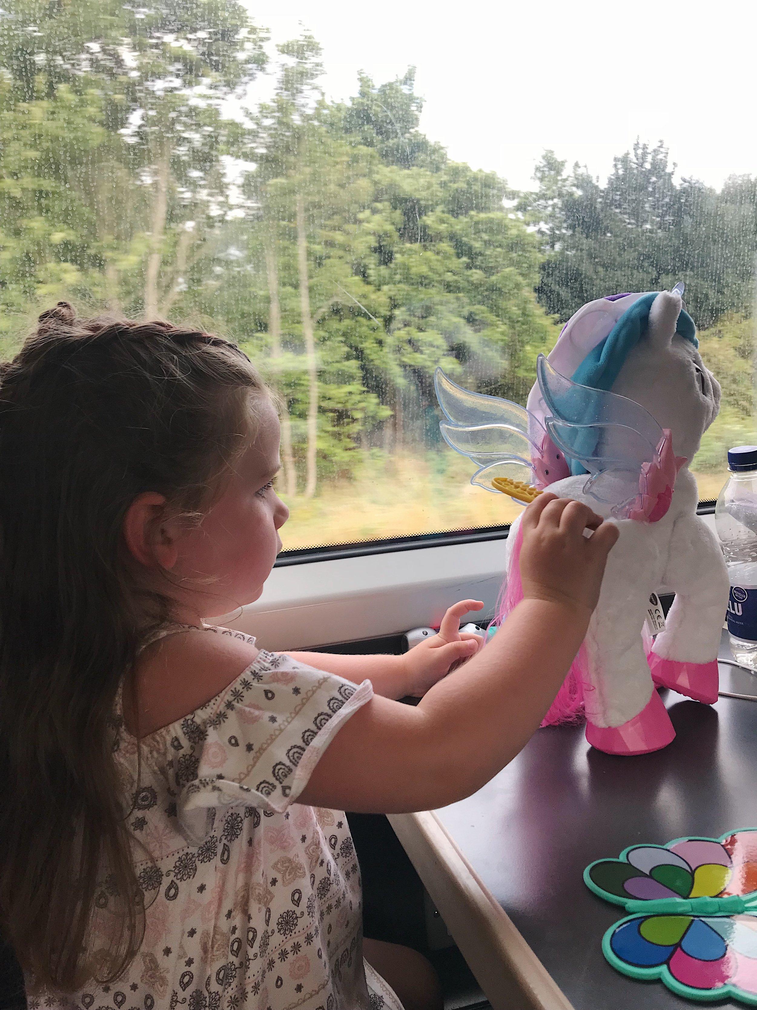Still loving Myla on the train home