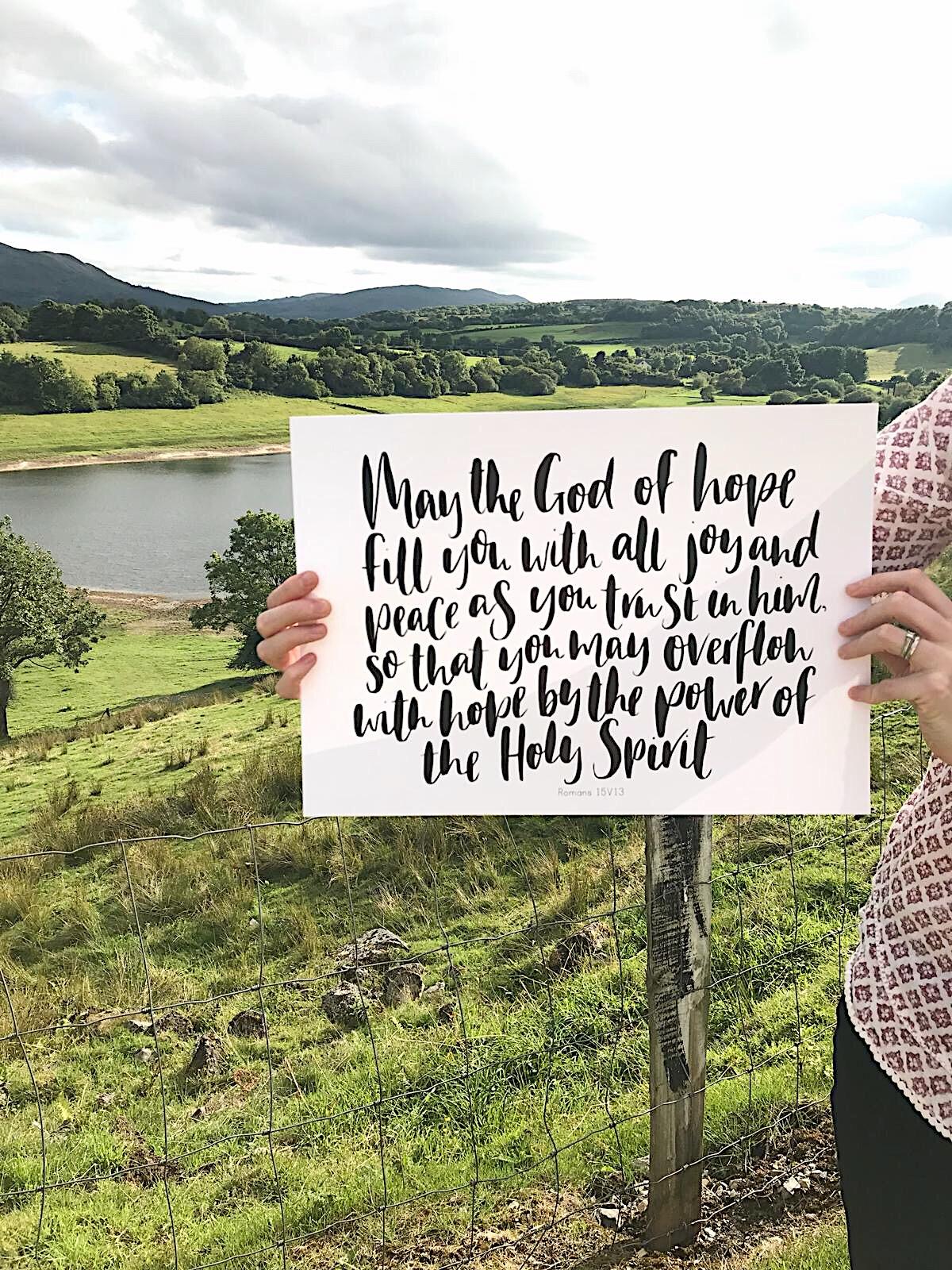 Lettering print by Megan @growingracelettering