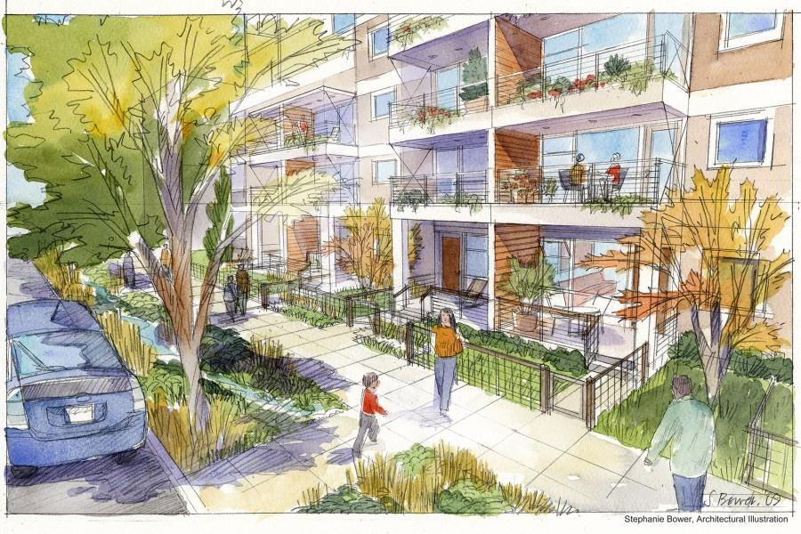 Housing at street