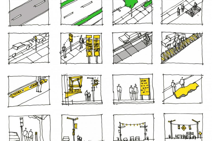 Bothell Art Walk Enhancement symbols