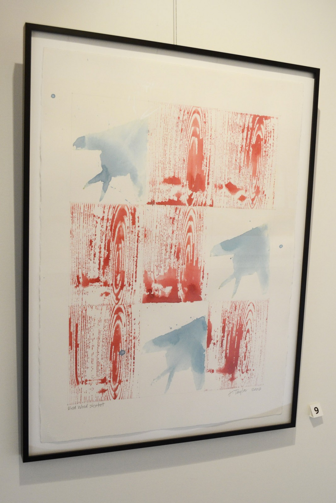Red Wood Sextet Framed