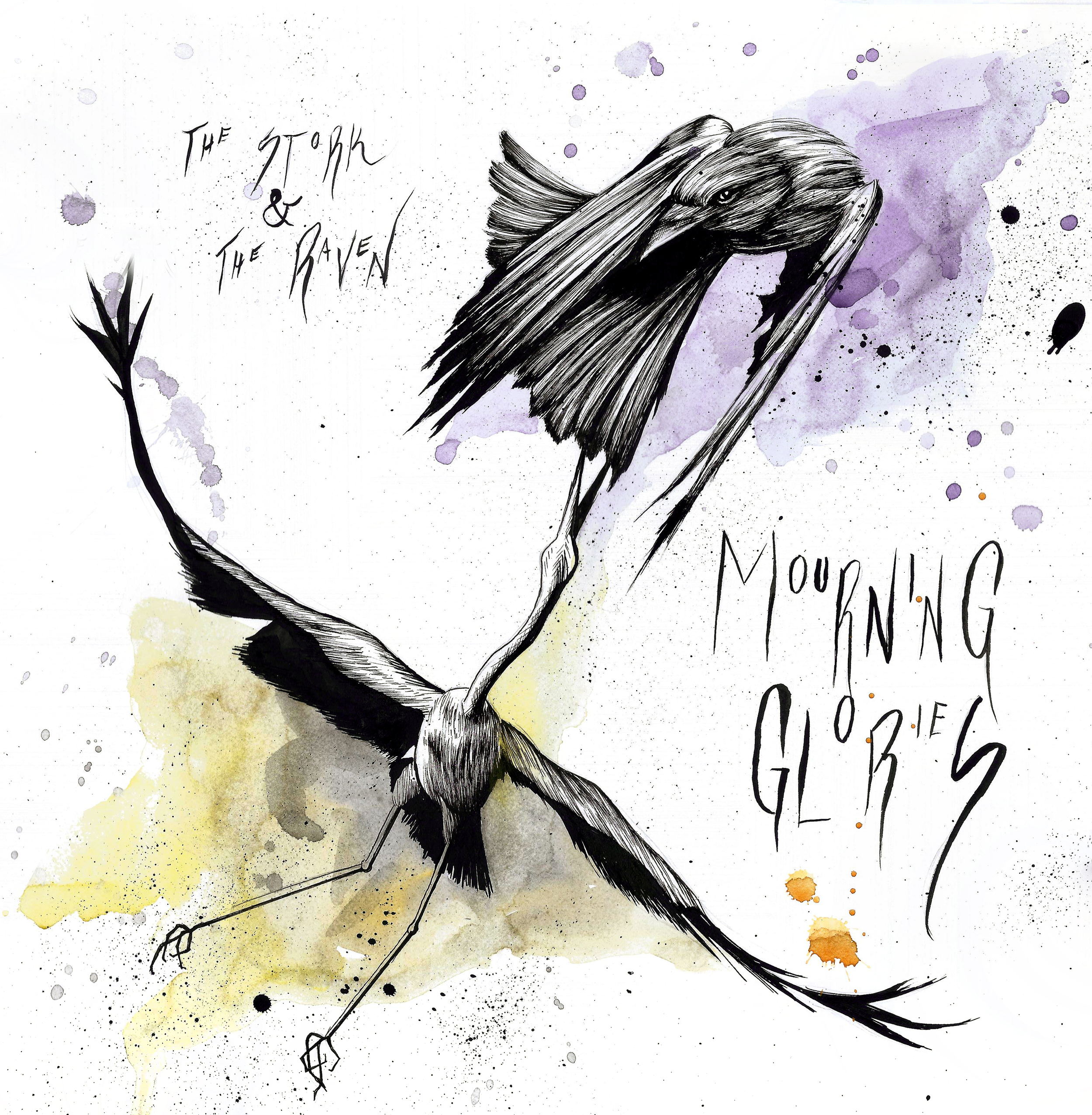 "Mourning Glories, ""The Stork and the Raven"" album cover"