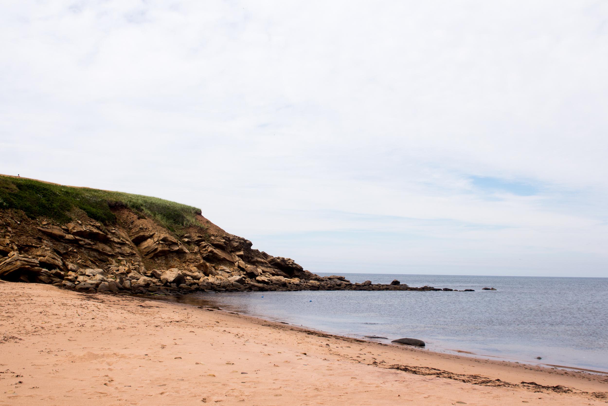 Beach on Cape Breton Island.