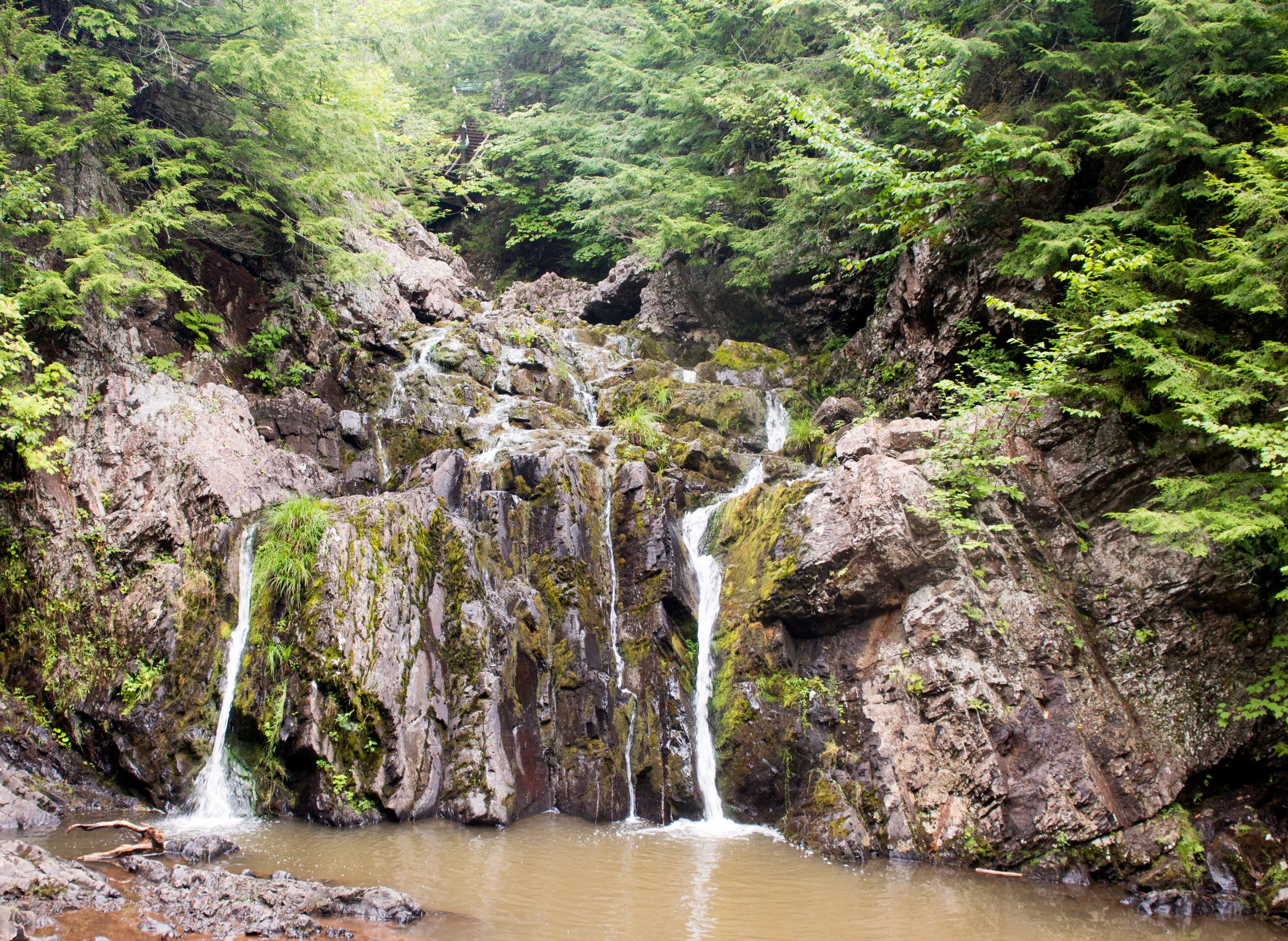 Waterfall in Victoria Park. Truro, Nova Scotia.