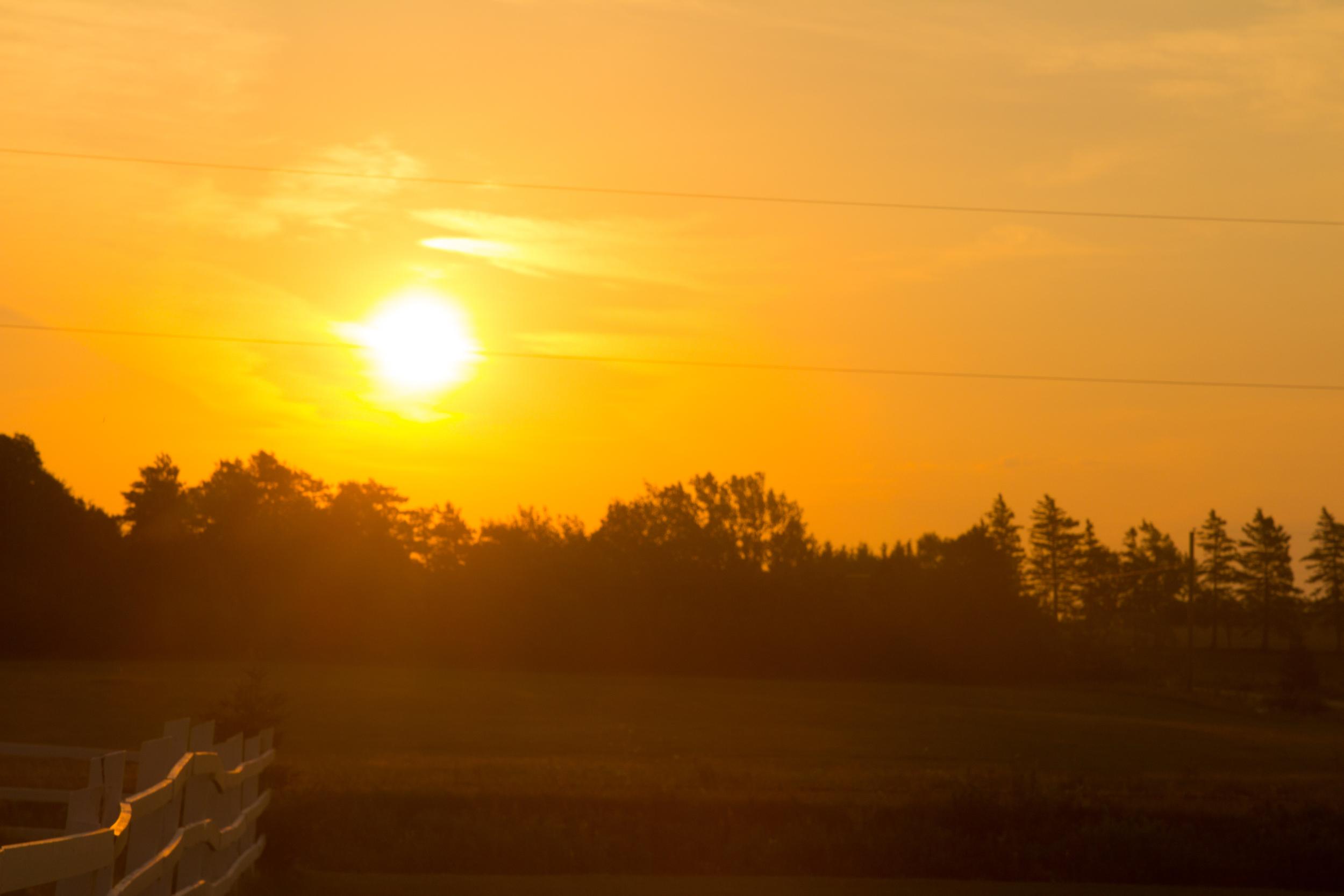 Sunrise near Brackley PEI