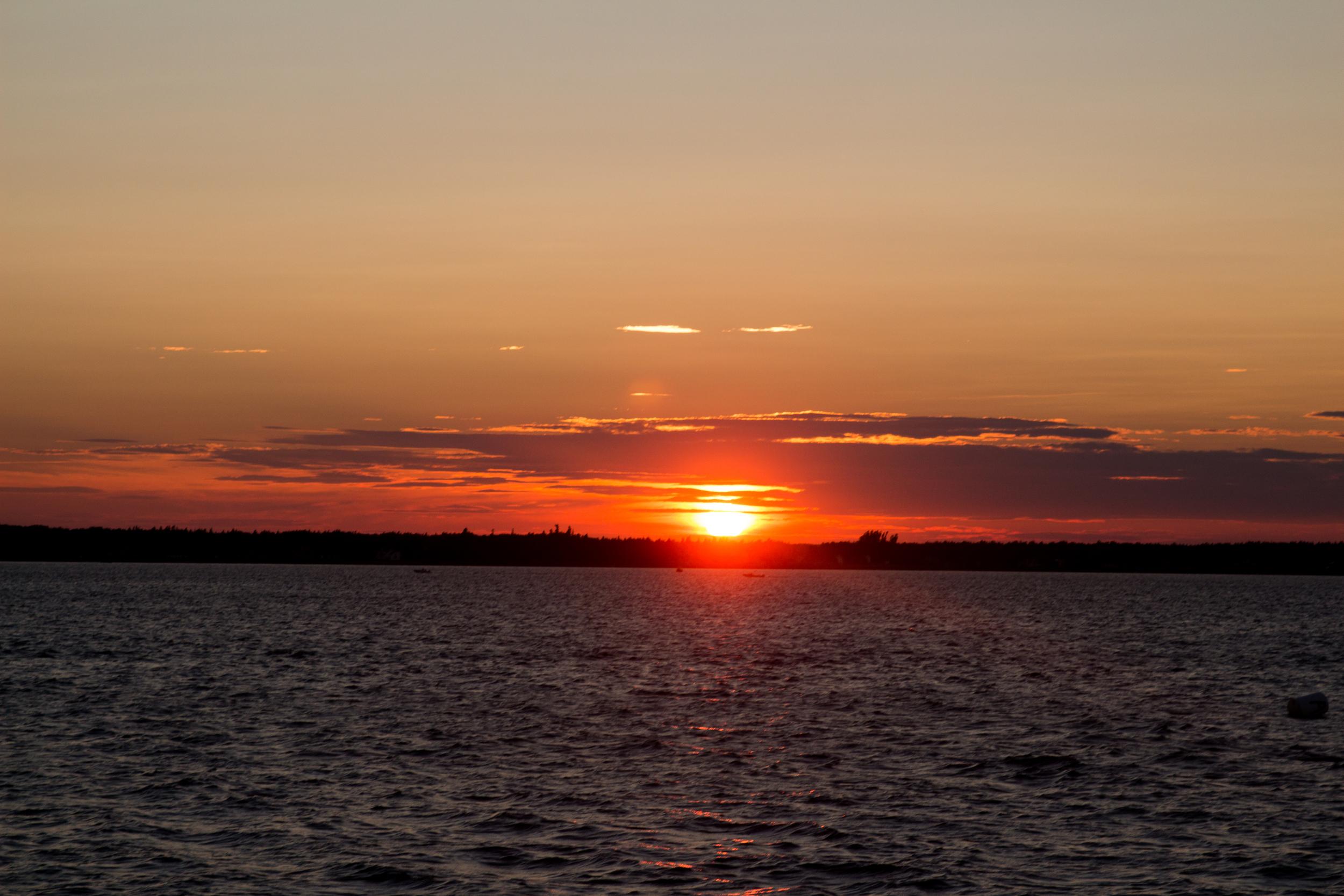 Sunset over the Shediac Wharf. Shediac, New Brunswick.