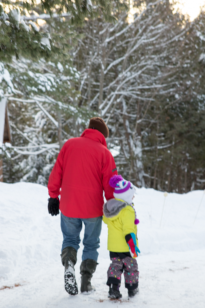 Walking with Papa. January 1st.